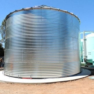 Steel Core Galvanized Water Storage Tank - 2 Stfnrs - J Rib 10 Degree Roof-0