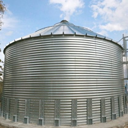 Steel Core Galvanized Water Storage Tank With 30 Degree Flat Panel Roof-676