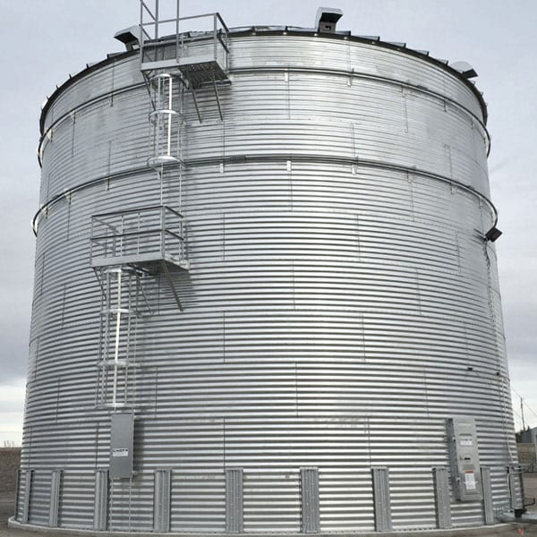 Steel Core Galvanized Water Storage Tank - 2 Stfnrs - J Rib 10 Degree Roof-668