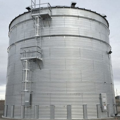 Steel Core Galvanized Water Storage Tank With 10 Degree Roof-761