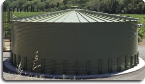 Water tank for fire protection