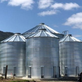 Steel Core Galvanized Water Storage Tank With 30 Degree Flat Panel Roof