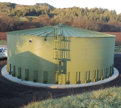 57627 Gallons Galvanized Water Storage Tank