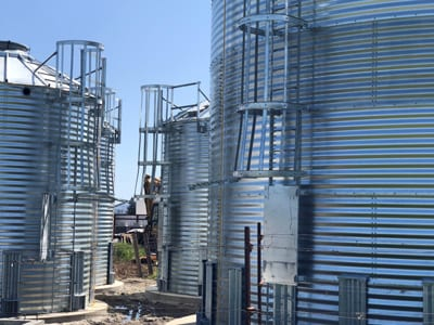 Steel Core Galvanized Water Storage Tank With 10 Degree Roof